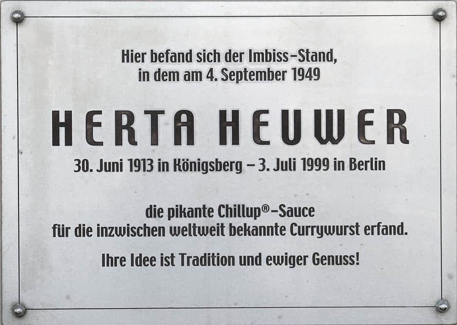 Gedenktafel Berta Heuwer