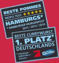Galileo verleiht den Preis zur besten Currywurst Deutschlands